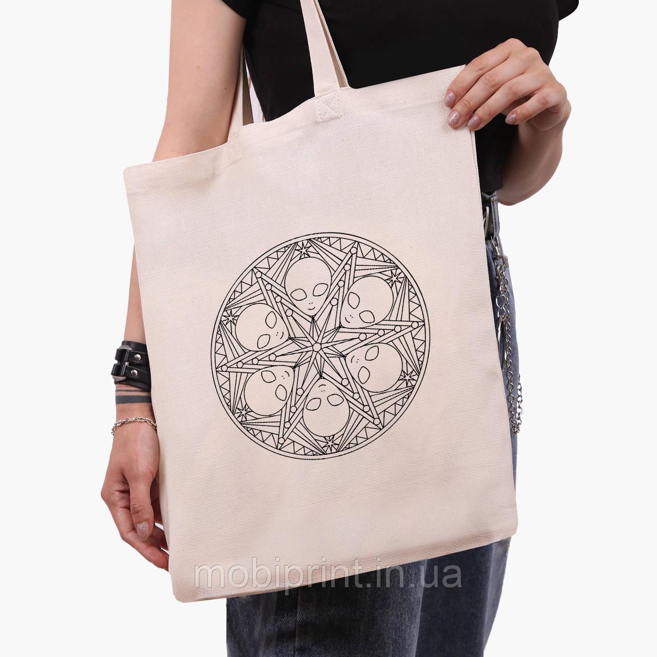 Еко сумка шоппер Инопланетяни (Aliens) (9227-2852) 41*35 см