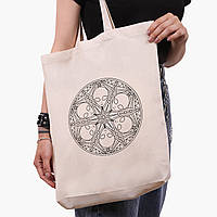 Эко сумка шоппер белая Инопланетяни (Aliens) (9227-2852-1)  41*39*8 см , фото 1