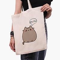 Эко сумка шоппер Кот Пушин (Pusheen Cat) (9227-2853)  41*35 см , фото 1