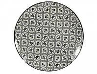 Тарелка фарфоровая № 8 мелкая d.20 Вуаль dark
