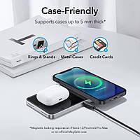 Магнитное беспроводное зарядное устройство HaloLock ™ 2-в-1 для iPhone 12 (с поддержкой MagSafe)