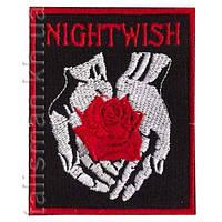 NIGHTWISH-2 (роза) - нашивка с вышивкой