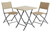 Комплект складной садовой мебели натура (раскладные 2 стула + складной столик )