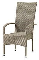 Стул -кресло садовое с высокой спинкой натура, Петан (искусственный ротанг)