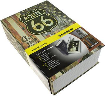 Книга-сейф з замком,метал. у пакунку,18,5х12х5,5см №MK1849(18)