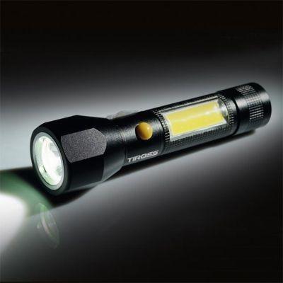Фонарь ручной Tiross TS-1885 CREE LED T6 XML 10W 450lm + 3W COB 250lm