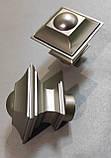 Карниз для штор металевий БОРДЖЕЗА подвійний 25+19 мм Рифлена 2.0 м Сатин Нікель, фото 2