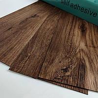 Кварц вініловий ламінат Дуб гнучкий ПВХ підлогу самоклеюча плитка для підлоги і стін підлогове покриття 1 кв.