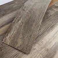 Вініловий ламінат для підлоги Сірий Дуб гнучкий квац вініловий підлогу під дерево плитка ПВХ для стін 1 кв. м
