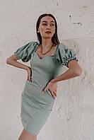 Женское приталенное платье мини