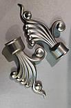 Карниз для штор металевий ВЕНУС подвійний 25+19 мм 1.8м Сатин нікель, фото 2