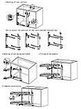 Система в угловую секцию Grass Hopper INNOVA антискользящее покрытие: ЛЕВЫЙ  угол  с доводчиком, ХРОМ, фото 3