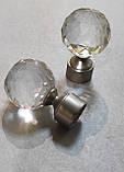 Карниз для штор металевий подвійний 25+19мм ЛЮМІЄРА Сатин нікель Довжина 2.4 м., фото 2