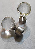 Карниз для штор металевий подвійний 25+19мм ЛЮМІЄРА Сатин нікель Довжина 3.0 м., фото 2