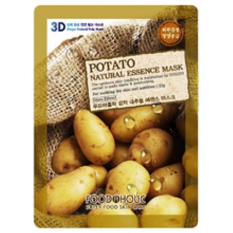 Тканевая маска Food A Holic 3D Shape Natural Essence Mask Potato  (Картофель)