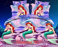"""Постельное """"Русалочка"""" для девочек. тк. Ранфорс, 1,5 сп 4880"""