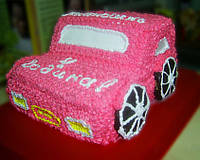 "Торт  на заказ ""Детская машинка"""