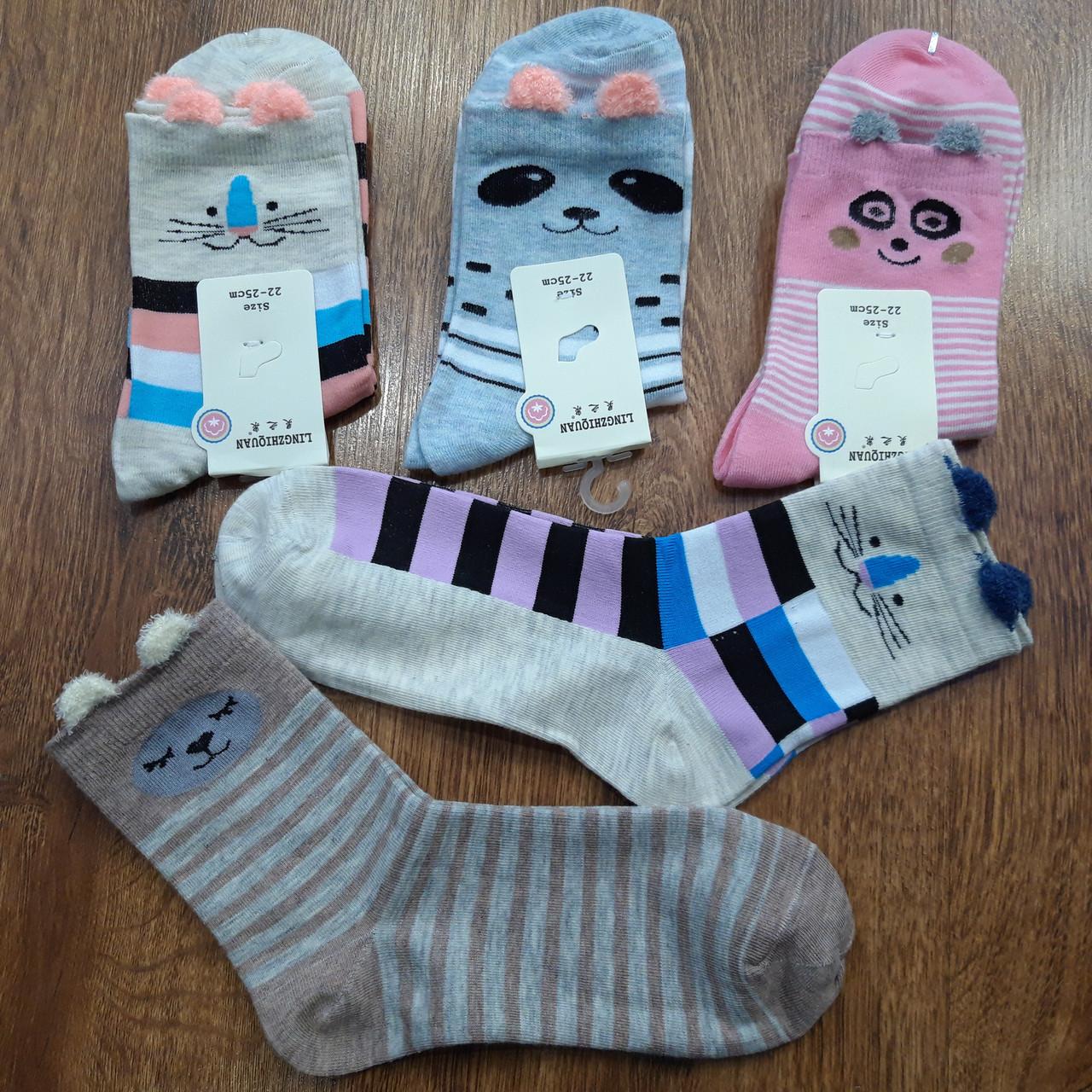 """Жіночі стрейчеві шкарпетки""""Пухнастики з Вушками"""" 36-40"""