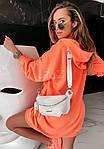 Женская туника, турецкая двунить, универсальный 42-46 (неон оранжевый), фото 3