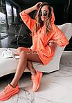 Женская туника, турецкая двунить, универсальный 42-46 (неон оранжевый), фото 6
