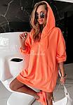 Женская туника, турецкая двунить, универсальный 42-46 (неон оранжевый), фото 7