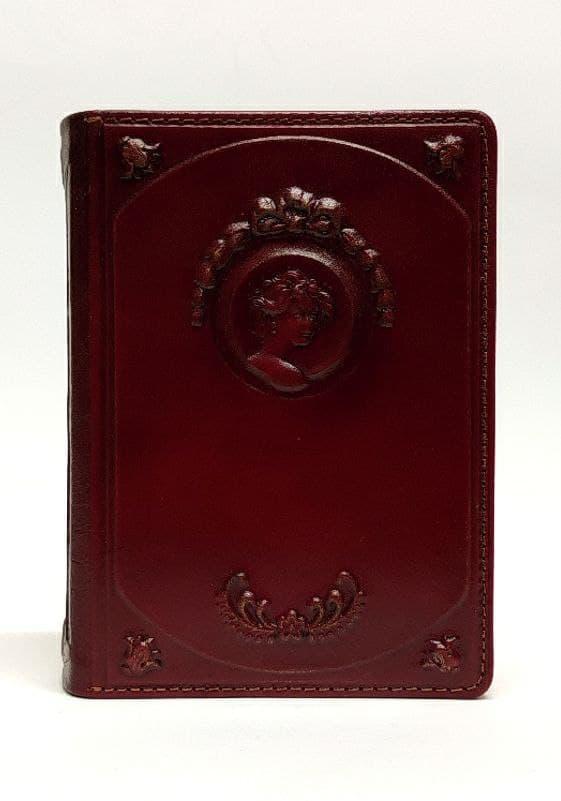 """Жіночий щоденник А6 формату в шкіряній обкладинці блок змінний не датований """"Наталі"""""""