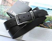 Кожаный ремень для джинсов Levis черный
