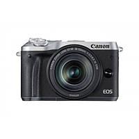 Фотоапарат Canon EOS M6 + EF-M 15-45mm + EF-M 55-200mm Black - Silver