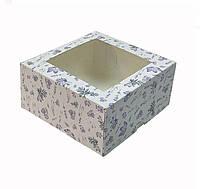 """Коробка """"Крокуси"""" 16,5х16,5х8 див. (з віконцем)"""