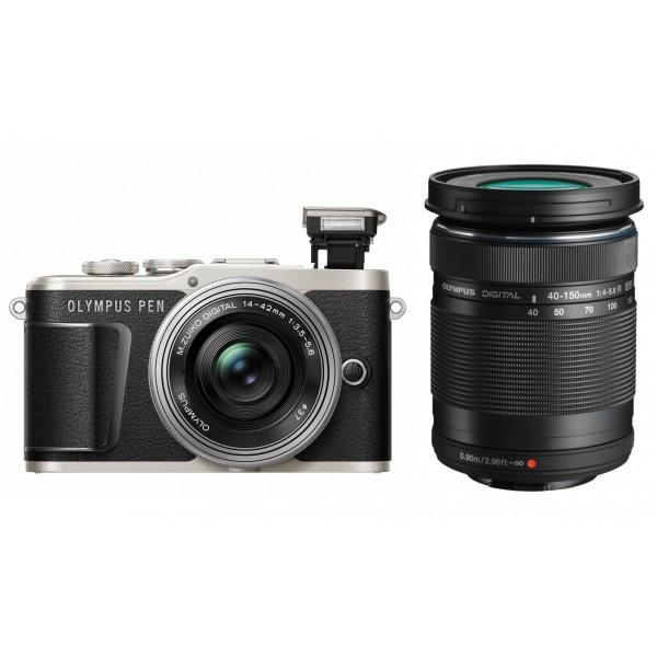 Фотоапарат Olympus Pen E-PL9 + 14-42 Pancake + 40-150 Black
