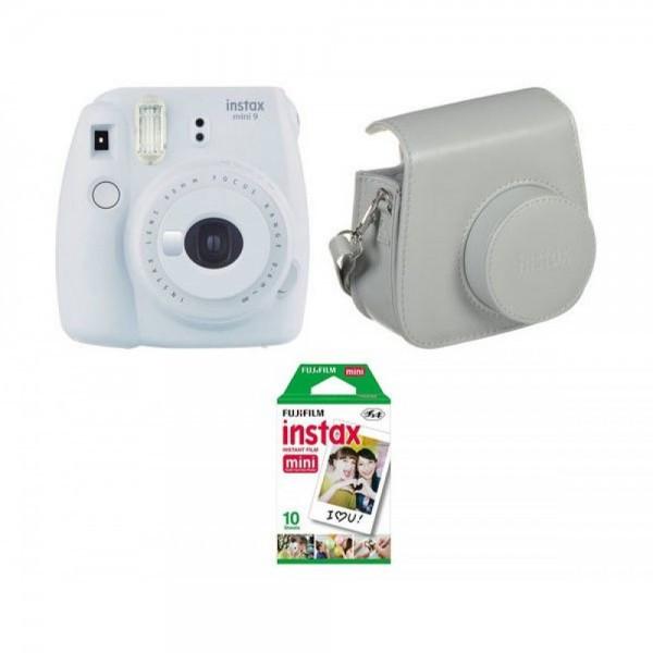 Камера моментальной печати Fujifilm Instax Mini 9 White(Чехол+Фотопленка)