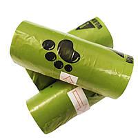 Пакеты для уборки за собакой биорастворимые (15шт. в рулоне)