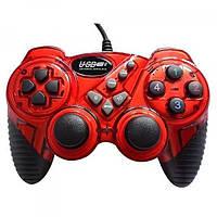 УЦЕНКА Игровой джойстик проводной USB-906 red (не работает кнопка на 2м аналоге)