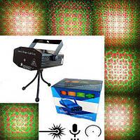 УЦЕНКА Мини лазерный проектор стробоскоп 6 в 1 (не работает 1 цвет лазера)