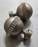 Карниз для штор металлический АВЕЯ двойной 25+19 мм 1.8м Сатин никель, фото 2