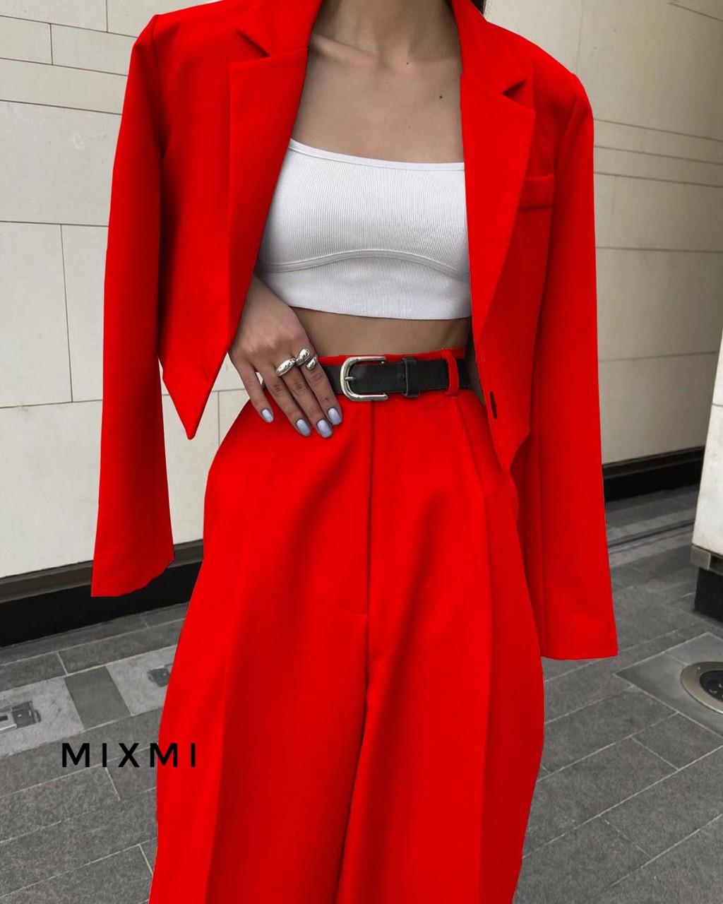 Женский костюм, костюмка класса люкс, р-р 42-44; 44-46 (красный)