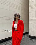 Женский костюм, костюмка класса люкс, р-р 42-44; 44-46 (красный), фото 2