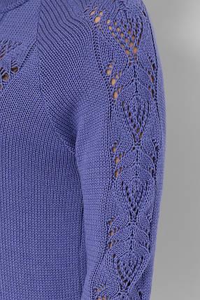 Джемпер вязаный женский голубой, фото 2