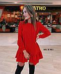 Женское платье, костюмка люкс, р-р универсальный 42-46 (красный), фото 2