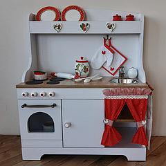 """Детская деревянная кухня """"Клубничка"""""""