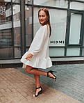 Женское платье, костюмка люкс, р-р универсальный 42-46 (белый), фото 2