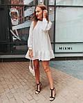 Женское платье, костюмка люкс, р-р универсальный 42-46 (белый), фото 3
