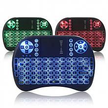 Клавіатура Rii mini i8 підсвічуванням английська клавіатура Чорний