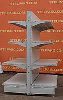 Островной (двухсторонний) стеллаж «Колумб», (Украина), 135х102 см., серый, Б/у
