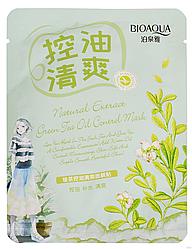 Тканевая маска для лица Bioaqua Natural Extract Green Tea Oil Control Mask