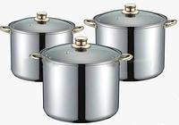 Набор кастрюль FRICO FRU 282, 6 предметов (7.2 л.,9 л.,11.2 л.), доставка из Киева