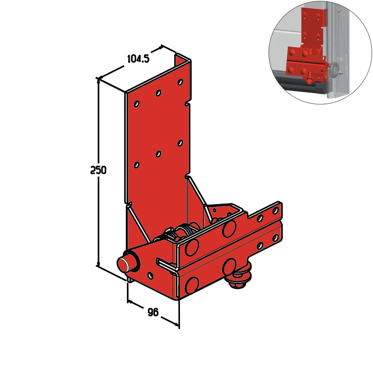 Кронштейн роликовый нижний Alutech RBI-45.110DR