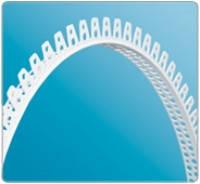 Уголок пластиковый арочный для конструкций из гипсокартона (2,5м)