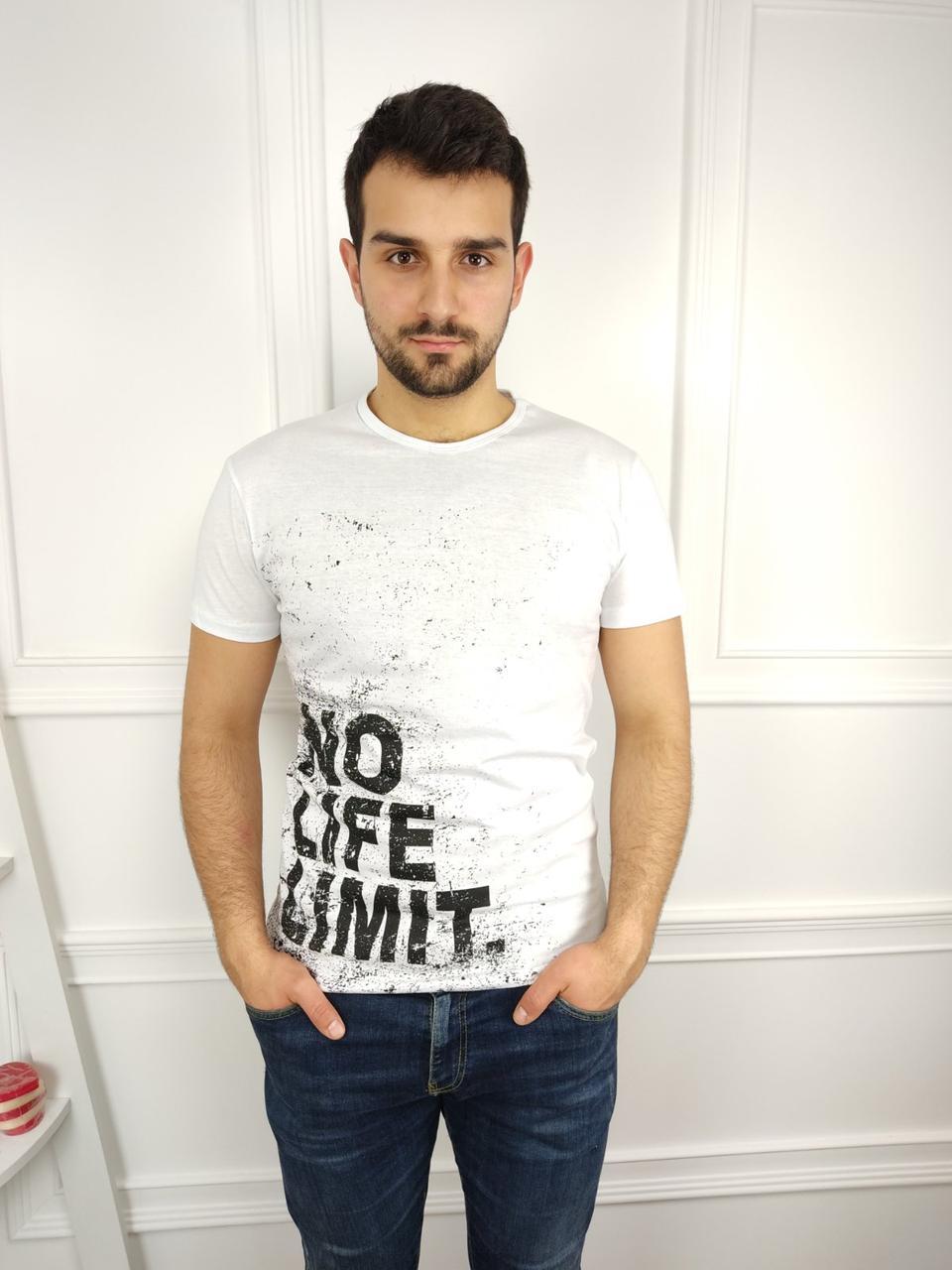 Мужская футболка 46-52рр, white, белый