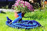 Шланг садовый для полива X Hose легкий и гибкий 15 метров с распылительной насадкой, Синий, фото 2